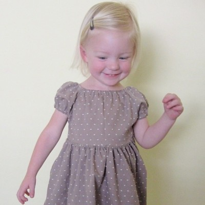 Dotted Swiss dress on MADE Everyday