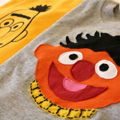 Bert and Ernie T-shirts tutorial from MADE Everyday