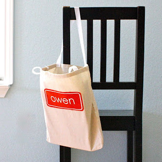 Personalized Book Bags tutorial from MADE Everyday