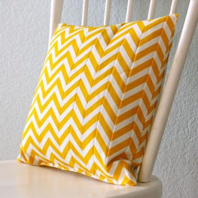DIY Chevron-Patterned Pillow - sewing tutorial from MADE Everyday