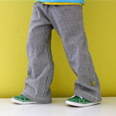 Basic Kid Pants pattern and sewing tutorial from MADE Everyday