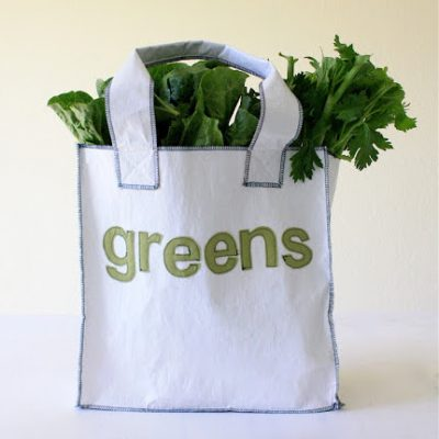Recycled Grocery Tote Bag sewing tutorial from MADE Everyday
