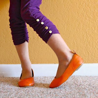 Ruched Leggings for Girls or Women - sewing tutorial from MADE Everyday with Dana