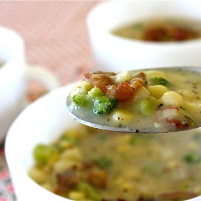 Potato and Broccoli Soup, with Bacon - recipe from MADE Everyday with Dana