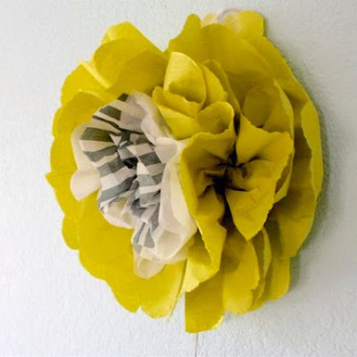 Wall Flowers - crafty tutorial from MADE Everyday with Dana