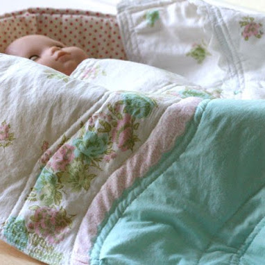 From pillowcase to quilted doll blanket - great gift - sewing tutorial from MADE Everyday