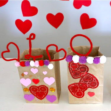 valentine sacks craft tutorial from MADE Everyday