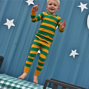 Goodnight Moon striped pajamas tutorial from MADE Everyday
