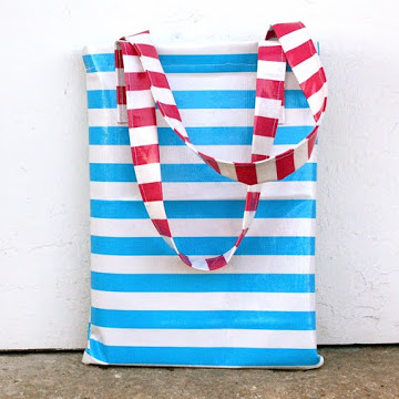 quick and easy oilcloth tote bag tutorial from MADE Everyday