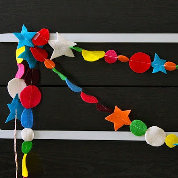 Happy Day garland felt holiday tutorial from MADE Everyday