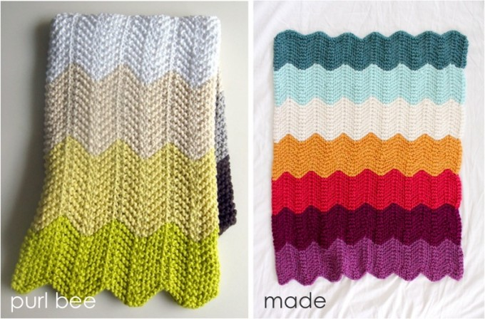 Celebrate Babythe Knitted Chevron Blanket Done Made Everyday