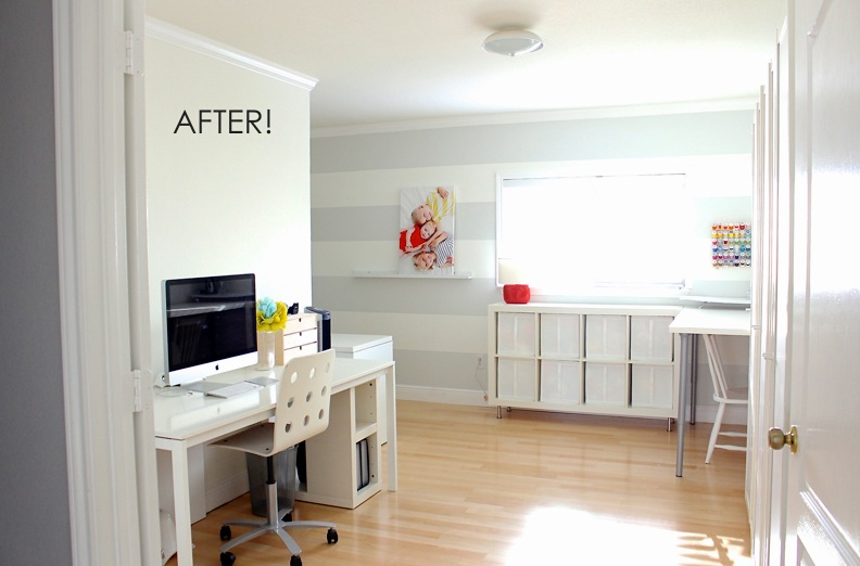 first-home tour: the sewing room makeover, before and after – made