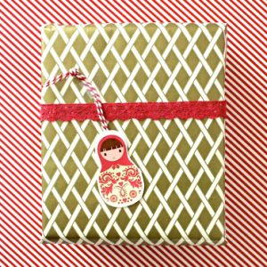 Wrapping Paper Gift Tags tutorial from MADE Everyday