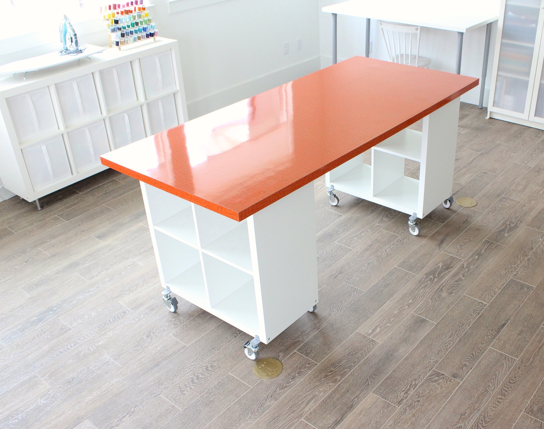 Building a new home the formica craft table made everyday for Building a craft room