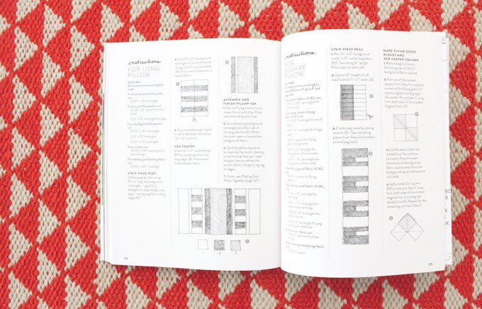 instruction pages in Handmade Style book