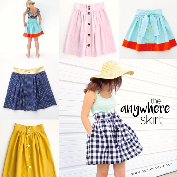 the Anywhere Skirt Pattern for any age and any size