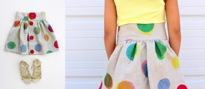 the Anywhere Skirt Pattern for kids and teens and adults