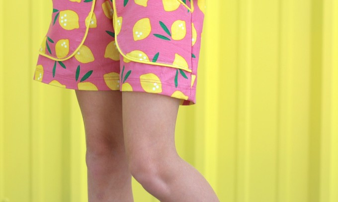 Lemonade Shorts pattern by MADE