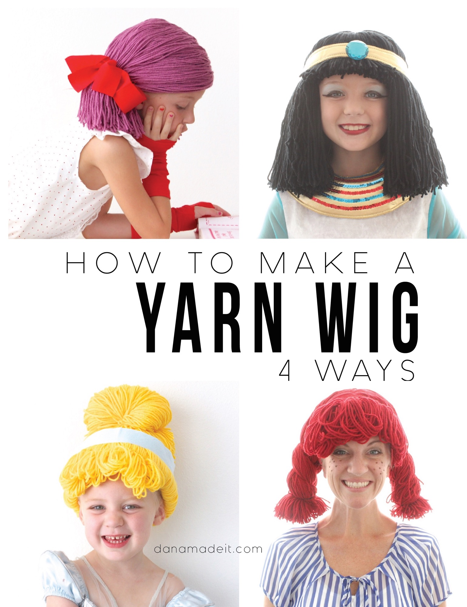 Making A Homemade Yarn Wig 68