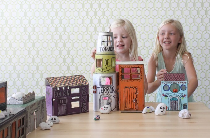 Little Rock Ghost Town upcycled craft for the whole family