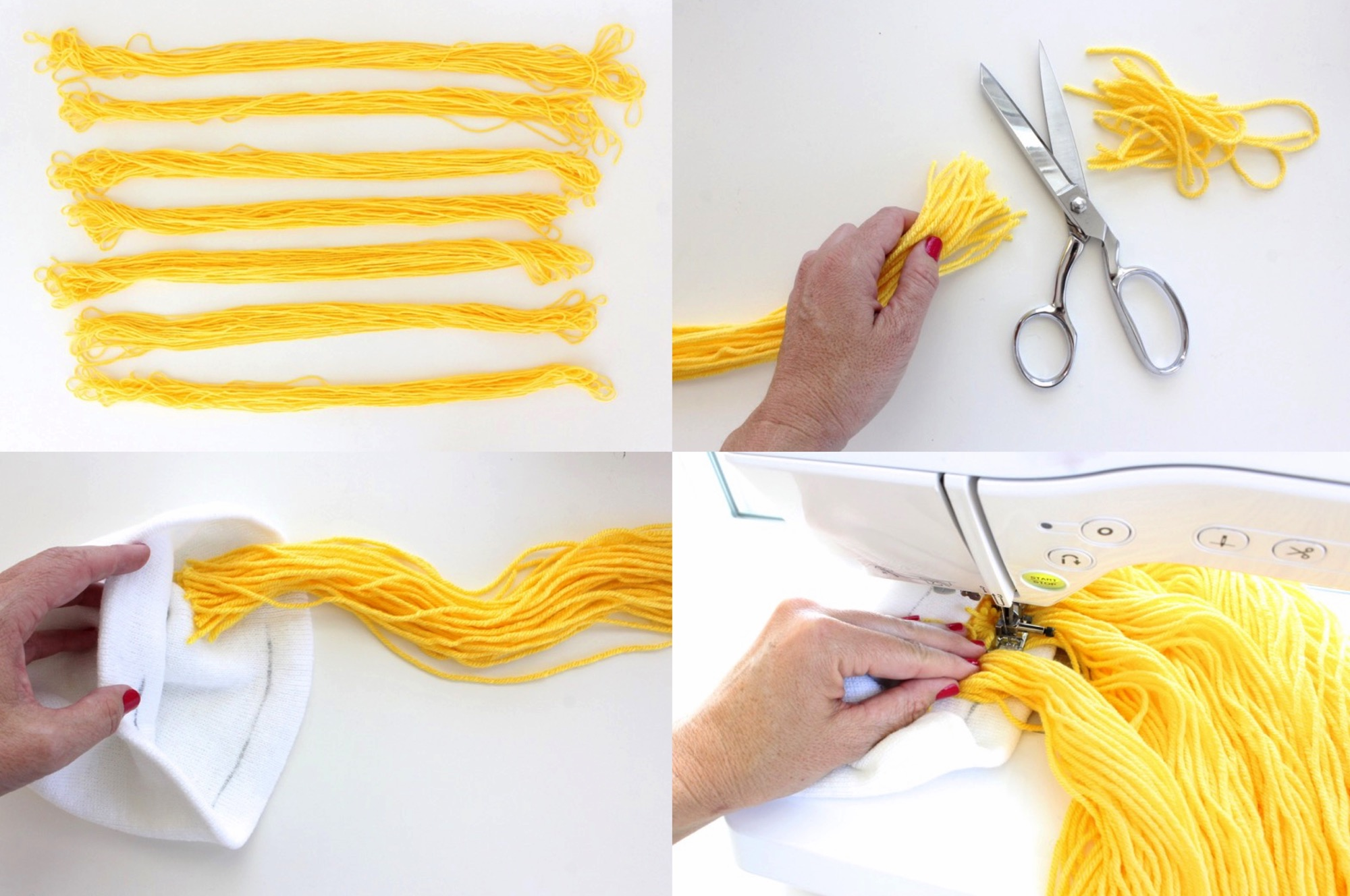 Making A Homemade Yarn Wig 117