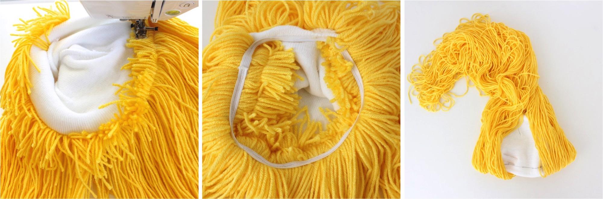 Making A Homemade Yarn Wig 113