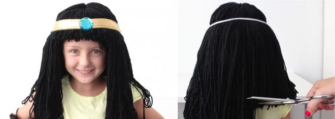 Как сделать парик из пряжи