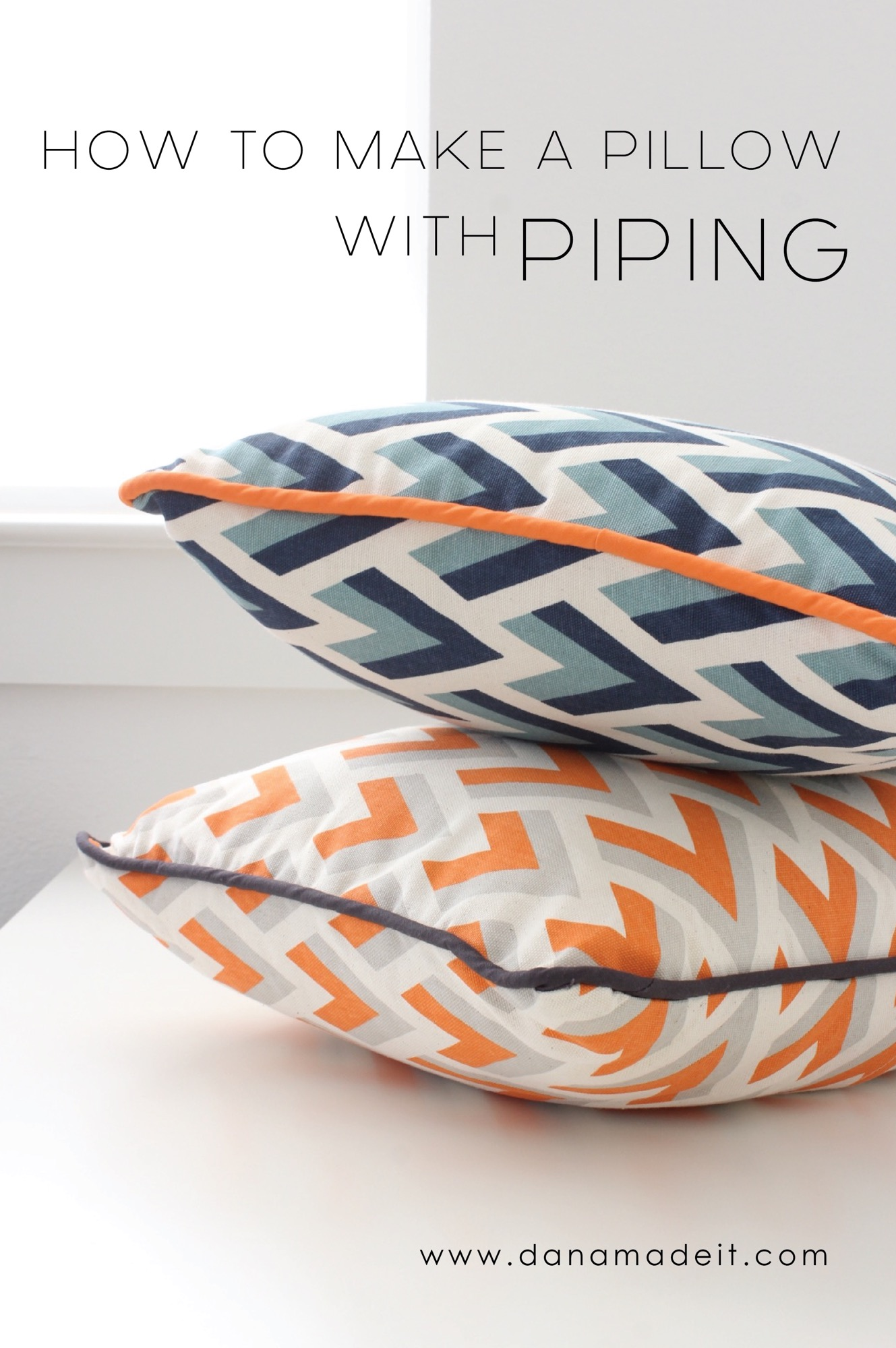How To Make A Throw Pillow With Piping : Pillows with Piping ? MADE EVERYDAY