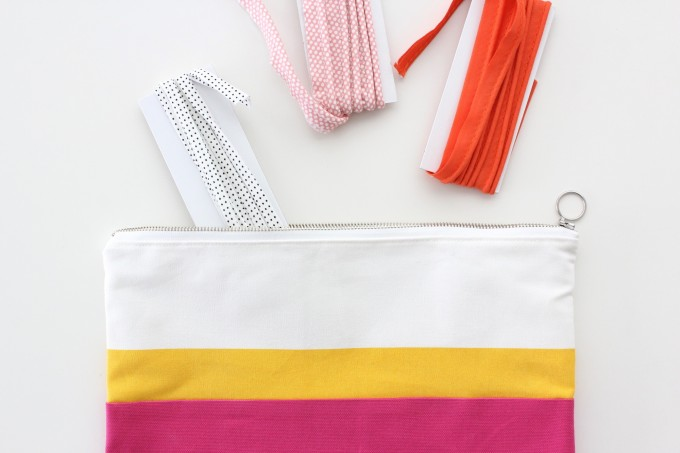 how to make a simple zipper pouch