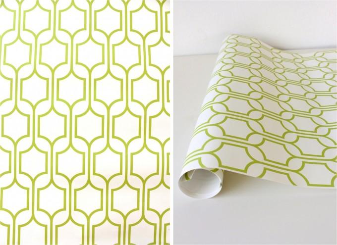 Green wallpaper on MADE