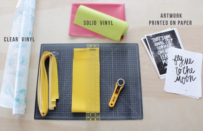 supplies for Vinyl Quote Totes