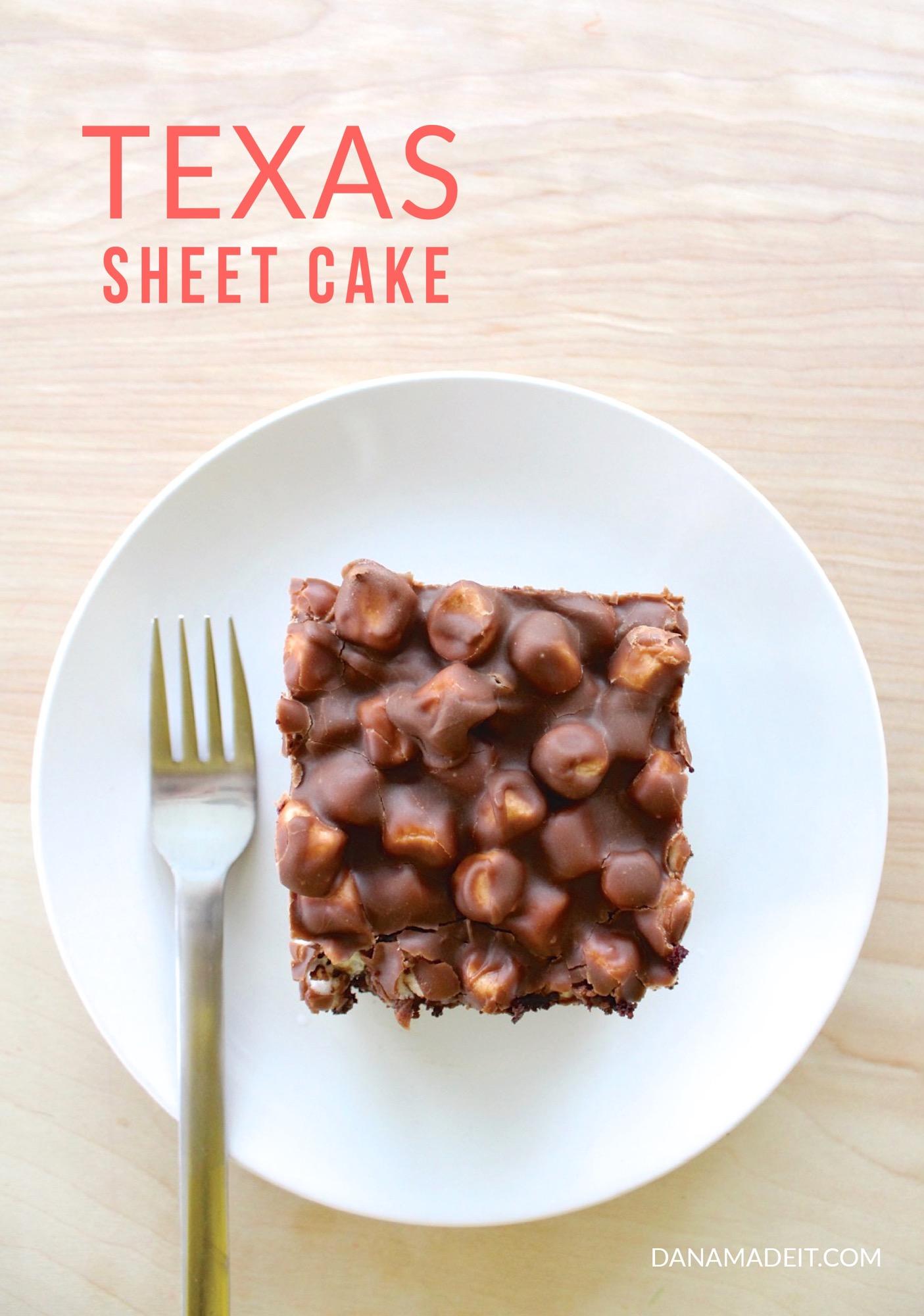 Texas Sheet Cake Made Everyday