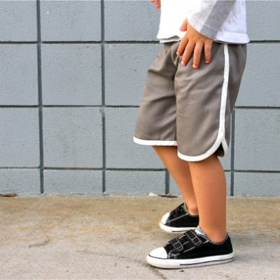 Retro Racer KID Shorts sewing tutorial from MADE Everyday with Dana