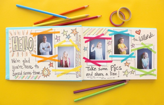 How to make a Guest Book with Instax photos