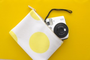 Instax camera fits in your zipper pouch