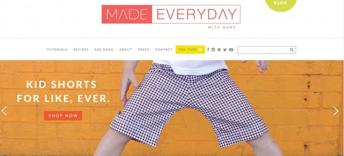 MADE Everyday KID shorts pattern