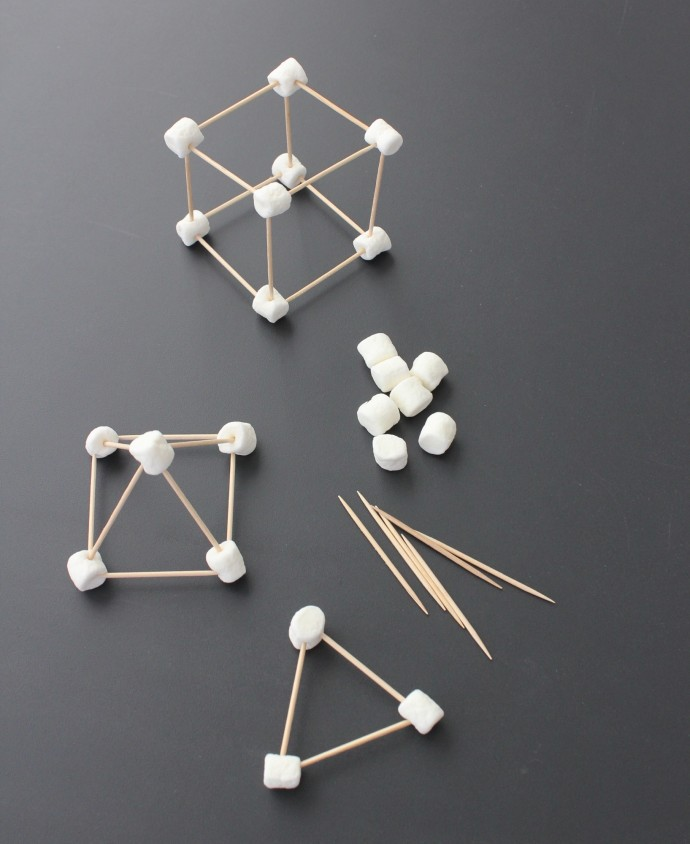 Marshmallow and toothpicks
