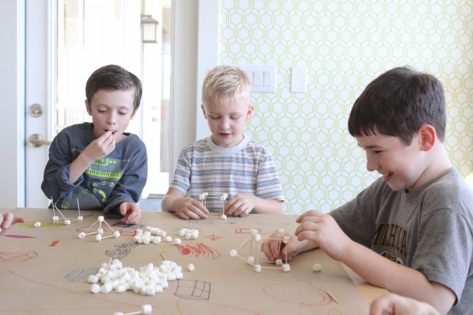 learn geometry with marshmallows and toothpicks