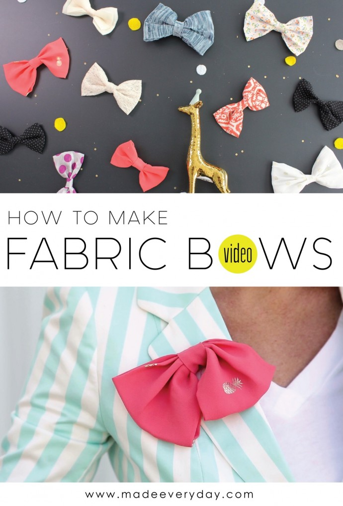 How to make Fabric Bows on MADE Everyday
