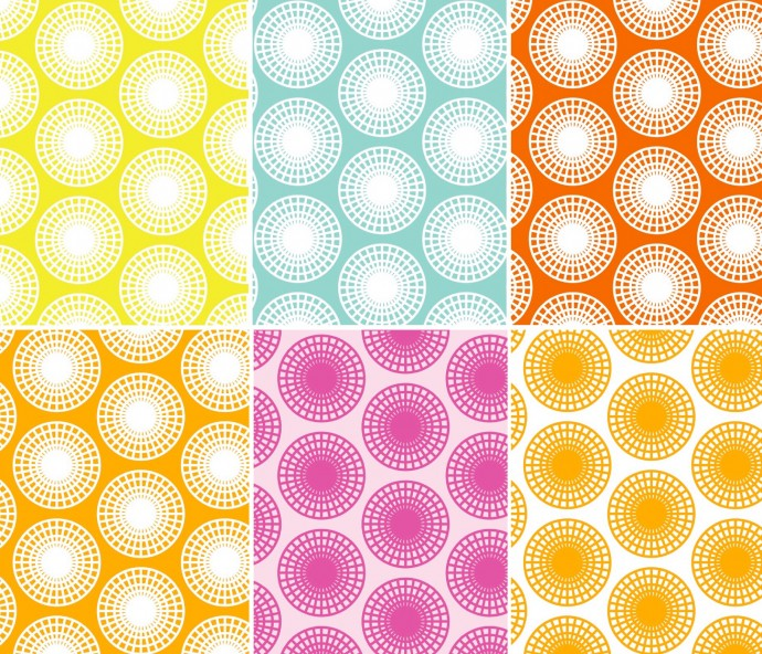 Ferris Wheel Fabric design in many colors
