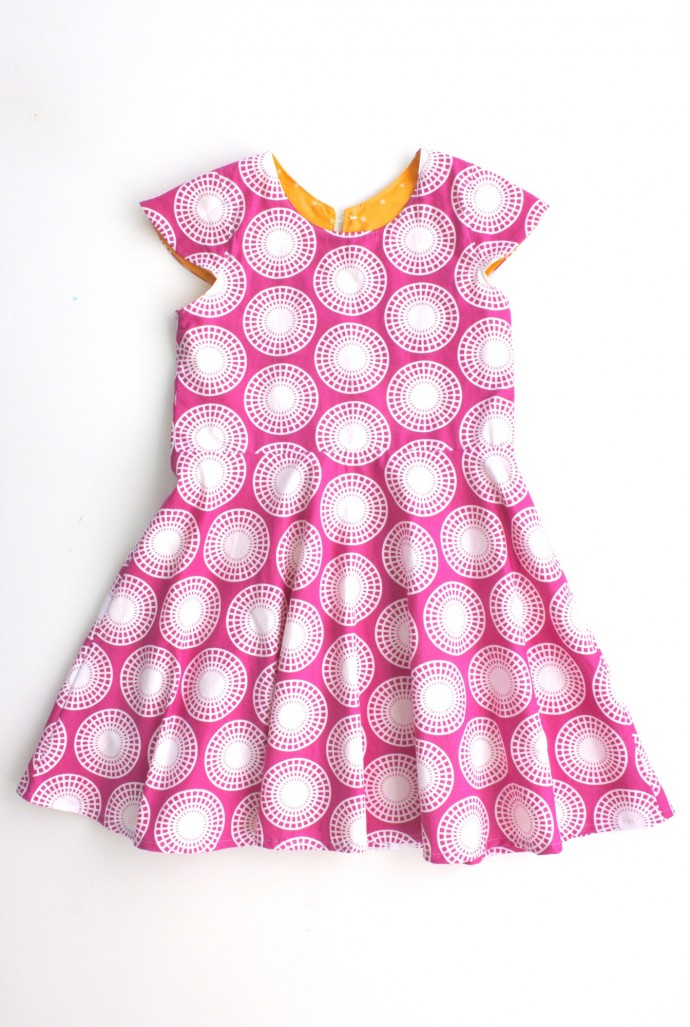 First Day Dress in Ferris Wheel Fabric