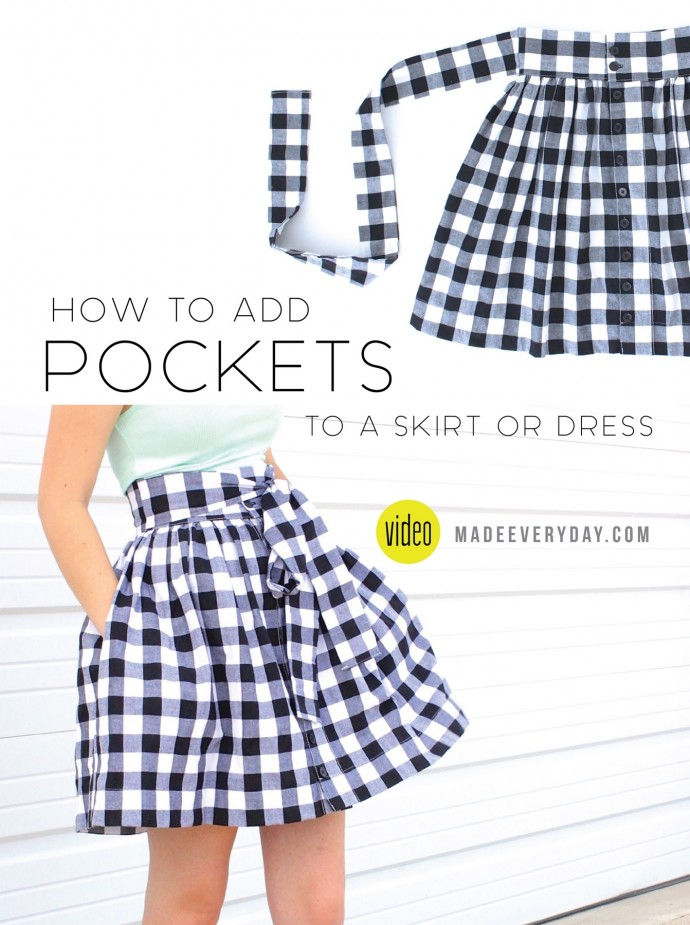 How to add POCKETS to a skirt or dress on MADE Everyday with Dana Willard