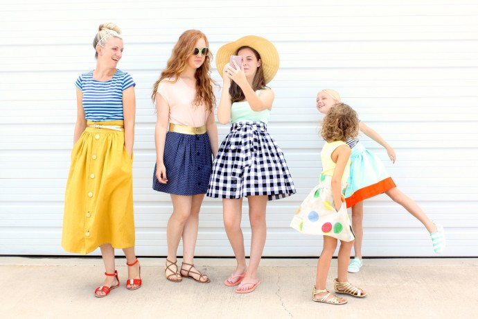 How to add pockets to your skirt or dress on MADE Everyday using the Anywhere Skirt pattern by Dana Willard