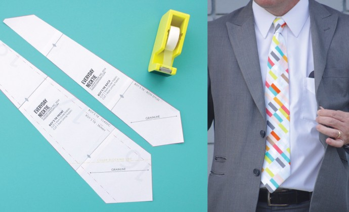 Everyday Necktie Pattern by Dana Willard on MADE Everyday 6