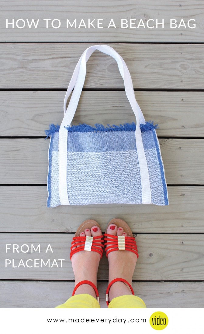 How to Make a Beach Bag from a Placemat on MADE Everyday with Dana Willard 2