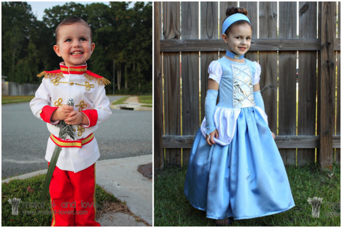 Cinderella and Prince Charming costumes from Make It and Love It