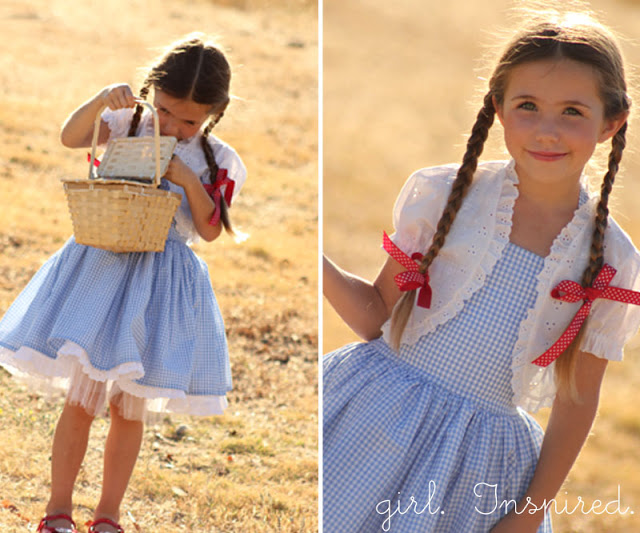 Wizard of Oz Dorothy Halloween costume from Girl. Inspired.