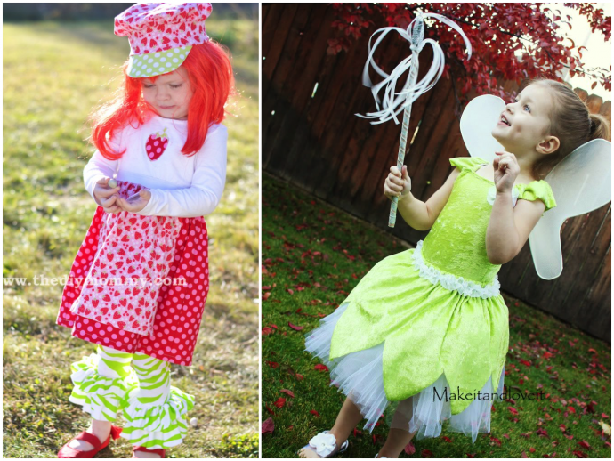 Strawberry Shortcake and Tinkerbell Halloween costume tutorials