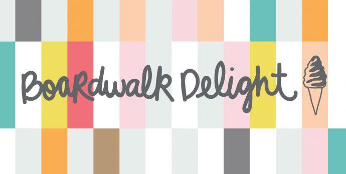 Boardwalk Delight fabric collection - Ice Cream Shop print - designed by Dana Willard for Art Gallery Fabrics