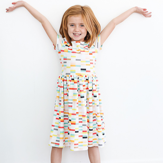 Boardwalk Delight fabric collection designed by Dana Willard for Art Gallery Fabrics - knit dress from Craftiness is not Optional